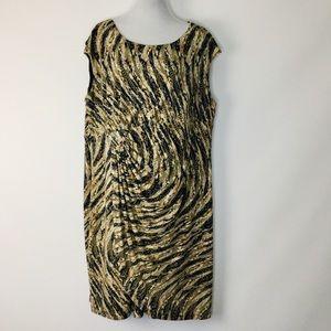 Dressbarn Snake Sleeveless Dress Plus Size 20